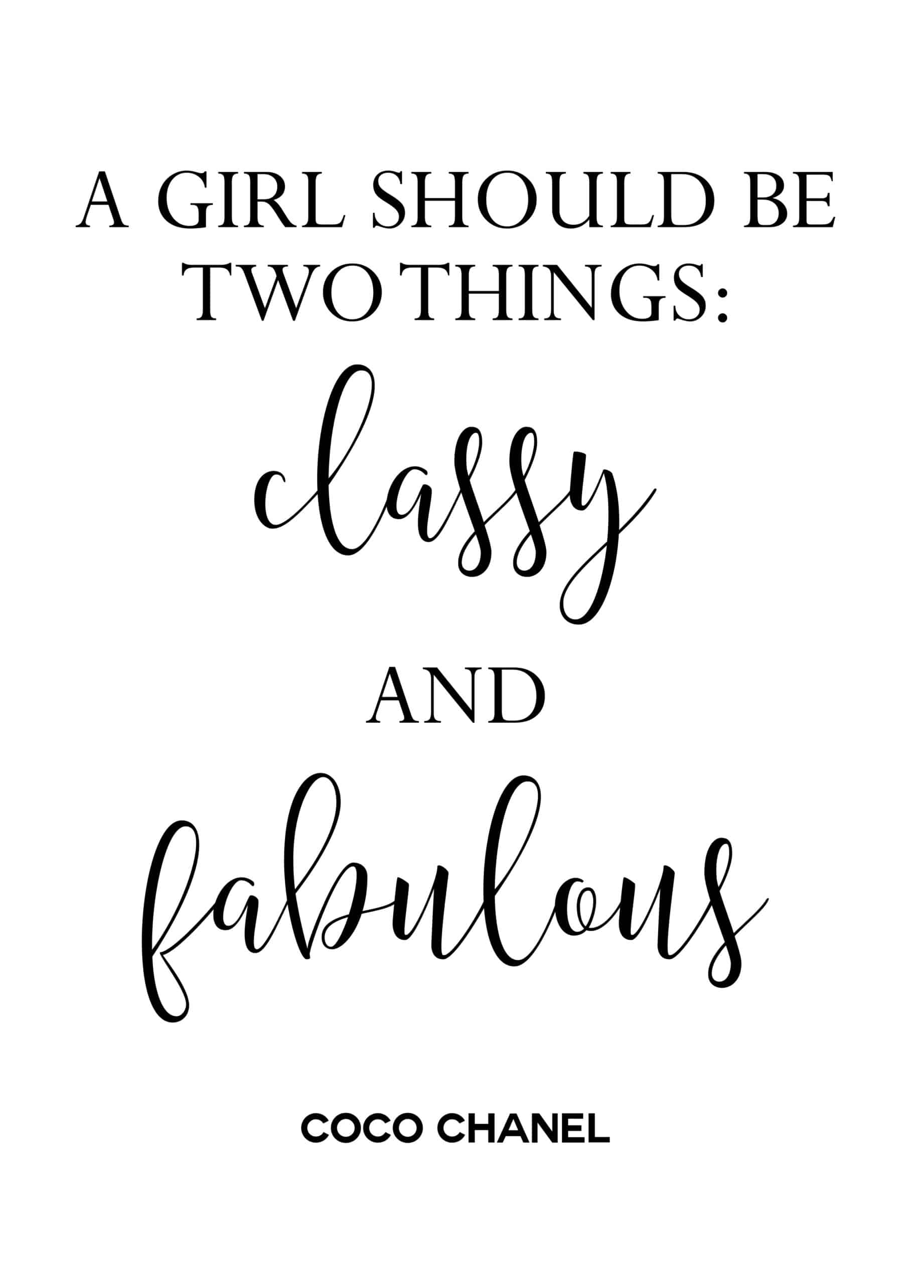 Quote by: Coco Chanel