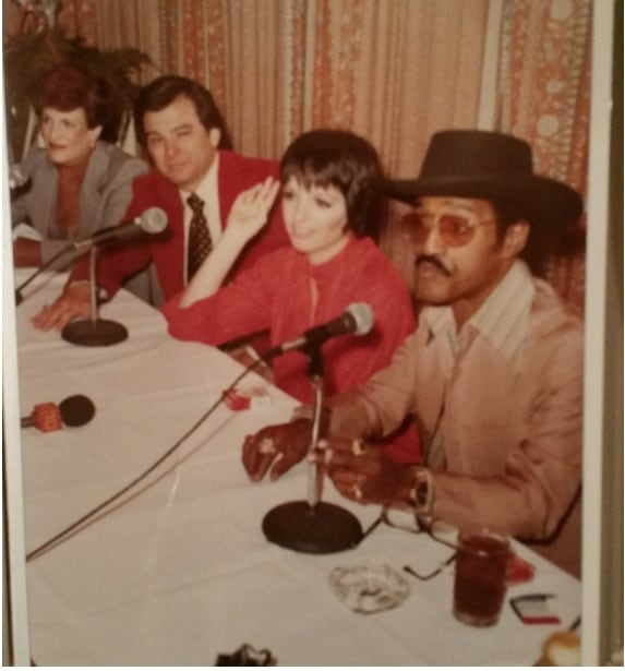 My mother and father announcing that Sammy Davis Jr. and Liza Minnelli were going to perform at The Diplomat.